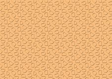Letter D pattern in peach colored shade pattern. Background used as wallpaper stock illustration