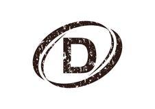Letter D Rough Logo. Logo Design Template Vector Stock Photography