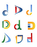 Letter D symbols Stock Photography