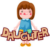 Letter of daughter royalty free illustration