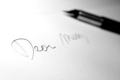 Letter Dear Mom Royalty Free Stock Photo
