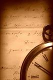 letter den gammala tappningwatchen Royaltyfri Fotografi