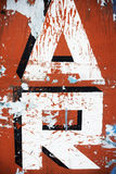 Letter detail of handpainted advertising sign Stock Images