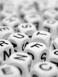 Letter Dice Stock Photography