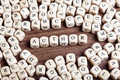 Letter dices word - author Stock Photos