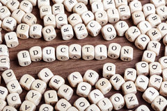 Letter dices word - education Royalty Free Stock Images