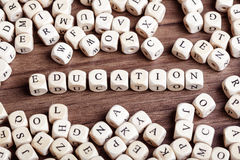 Letter dices word - education Royalty Free Stock Image
