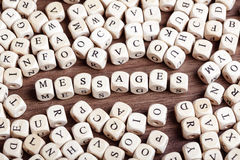 Letter dices word - messages Royalty Free Stock Photo