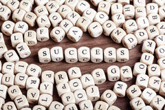 Letter dices word - success Royalty Free Stock Images