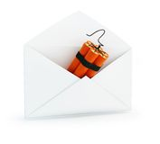 Letter dynamite. On a white background Royalty Free Stock Photo