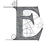 Letter E Stock Image