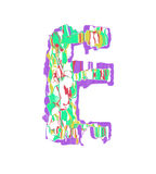 Letter E. Royalty Free Stock Photography