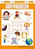 The Letter E Crossword concept royalty free illustration