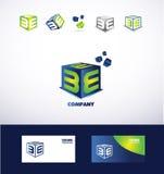 Letter E cube box logo icon Royalty Free Stock Photography