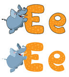 Letter E elephant Royalty Free Stock Image