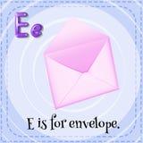 Letter E stock illustration