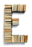 Letter E formed from the page ends of books Stock Images