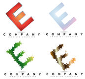 Letter E logo Royalty Free Stock Photo