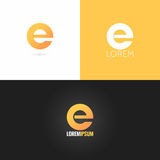 Letter E logo design icon set background Royalty Free Stock Photography