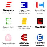 Letter E logo. Set of alphabetical Logo Design with different moods and Concepts - Letter E Royalty Free Stock Photo