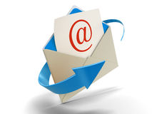 Letter E-mail (clipping path included) Royalty Free Stock Photos