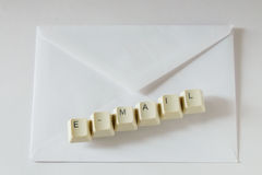 Letter e-mail and envelope Royalty Free Stock Photo