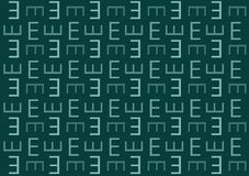 Letter E pattern in blue shades wallpaper background. For use on designs royalty free illustration