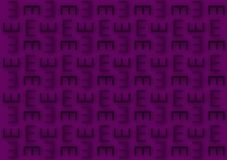 Letter E pattern in purple shades wallpaper background. For use on designs vector illustration