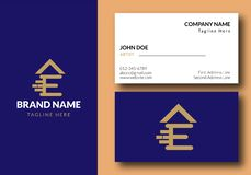 Letter E Real Estate Logo Design - Real estate royalty free illustration