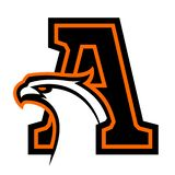 Letter A with eagle head. Great for sports logotypes and team mascots vector illustration