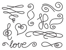 Letter end swirls Royalty Free Stock Photos