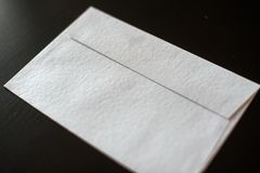 Letter envelope on black background. mock-up for your design royalty free stock photos