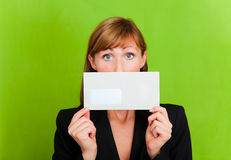 Letter envelope dismissal mail Royalty Free Stock Images
