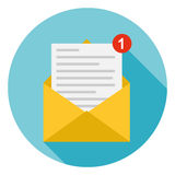 Letter in the envelope Royalty Free Stock Images
