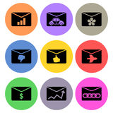 Letter and envelope icon designs Stock Photography