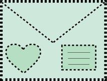 Letter envelope love heart Stock Image