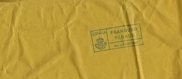 Letter envelope from Spain Royalty Free Stock Photography
