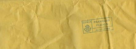 Letter envelope from Spain Stock Photos