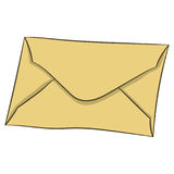 Letter in envelope. vector illustration. Drawing by hand. Royalty Free Stock Photography