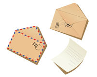Letter and envelopes Royalty Free Stock Image