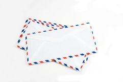 Letter envelopes isolated Royalty Free Stock Images