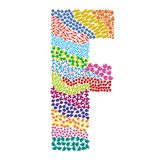Letter F. Alphabet  graphic illustration design Royalty Free Stock Image