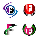 Letter F alphabet logo vector letter F icon set Stock Images