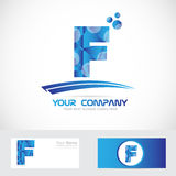 Letter F blue logo icon Royalty Free Stock Photos