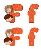 Letter F face Royalty Free Stock Photo