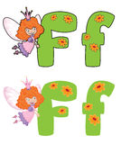 Letter F fairy Royalty Free Stock Images