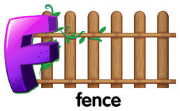 A letter F for fence Royalty Free Stock Image