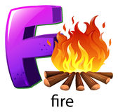 A letter F for fire Stock Photos