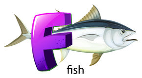 A letter F for fish Stock Photo