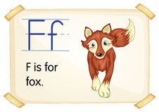 Letter F. Illustration of a flashcard with letter F vector illustration